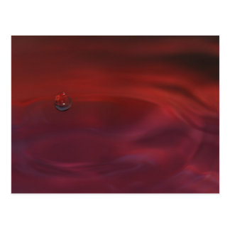 A red water with only one bubble cartes postales