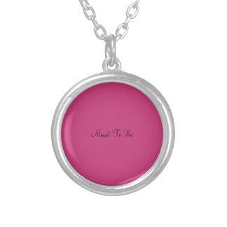 A signifié pour être collier rose pendentif rond