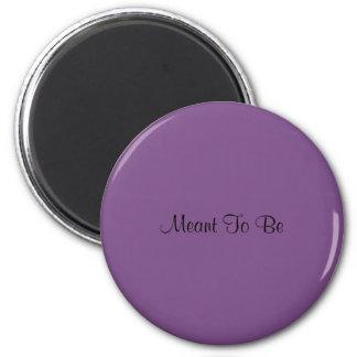 A signifié pour être l'aimant (pourpre) magnet rond 8 cm
