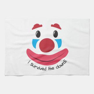 A survécu aux clowns serviettes éponge