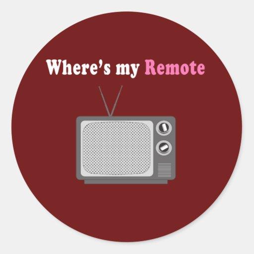 À télécommande adhésif rond