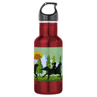 À travers la prairie bouteille d'eau en acier inoxydable