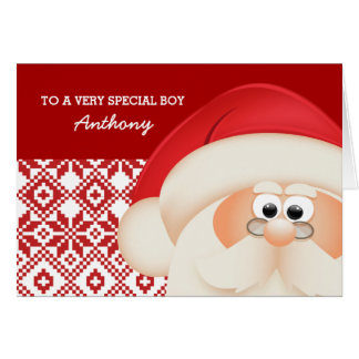 À un enfant spécial du père noël. Cartes de Noël