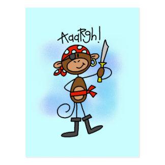 Aargh T-shirts et cadeaux de pirate de singe Cartes Postales