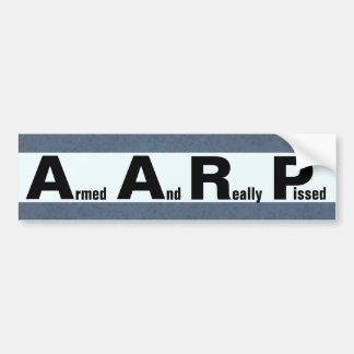 AARP signifie ARMÉ ET VRAIMENT PISSE Autocollant De Voiture
