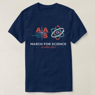Aas + Mars pour la Science ; Bleu marine T-shirt