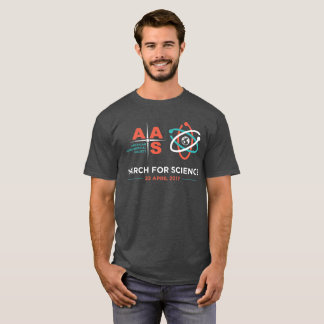 Aas+Mars pour la Science ; Charbon de bois Heather T-shirt