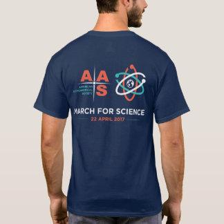 Aas + Mars pour la Science ; Inverse ; Bleu marine T-shirt