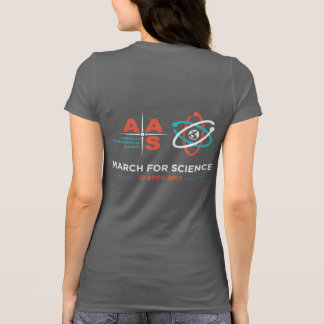 Aas + Mars pour la Science ; Inverse, gris-foncé T-shirt