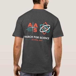 Aas + Mars pour la Science ; Renversez, gris de T-shirt