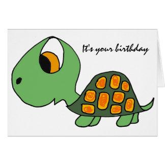 AB carte d'anniversaire drôle de tortue