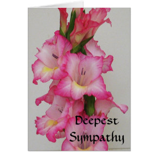 AB carte florale de la sympathie la plus profonde