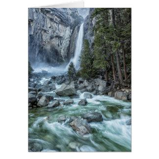 Abaissez la carte de voeux de Yosemite Falls