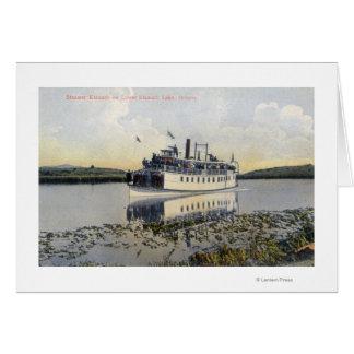 Abaissez la vue de lac du vapeur Klamath Carte De Vœux