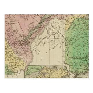 Abaissez le Canada et le Nouveau Brunswick Carte Postale