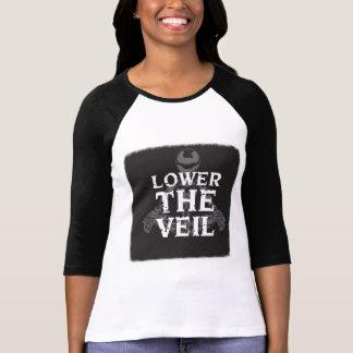 Abaissez les dames de voile 3/4 douille Pièce en T-shirt