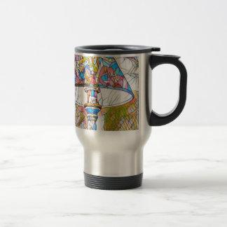 Abat-jour artistique frais en verre souillé mug de voyage en acier inoxydable