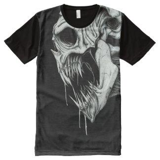 Abattage de dents de Halloween de T-shirt de crâne