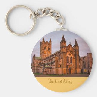 Abbaye de Buckfast au coucher du soleil Porte-clé Rond
