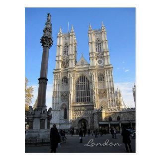 Abbaye de Westminster, carte postale de Londres