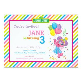 Abby a barré l'anniversaire carton d'invitation  12,7 cm x 17,78 cm