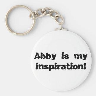 Abby est mon inspiration porte-clé rond