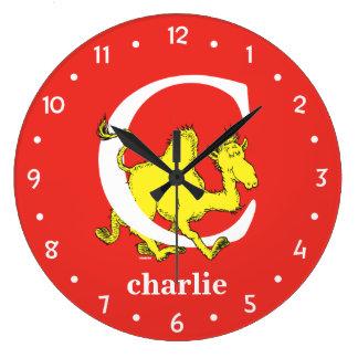 ABC de Dr. Seuss's : Lettre C - Le blanc | Grande Horloge Ronde
