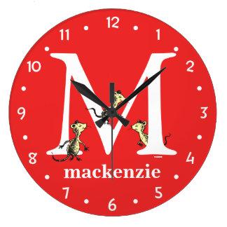 ABC de Dr. Seuss's : Lettre M - Le blanc   Grande Horloge Ronde