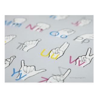ABC de langue des signes Carte Postale