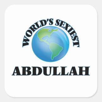 Abdullah le plus sexy du monde stickers carrés