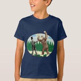 ABE LINCOLN : CHASSEUR de SASQUATCH - logo drôle T-shirt