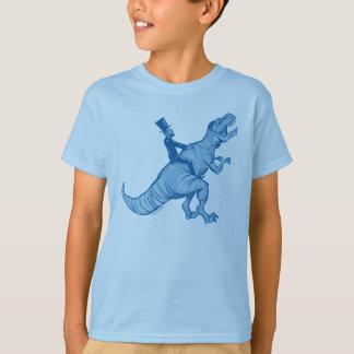 Abe Lincoln montant un T-Rex badine le T-shirt