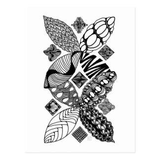 Abeille - carte postale d'art abstrait