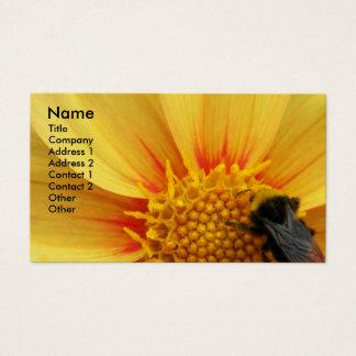 Abeille de Buzzy florale Cartes De Visite