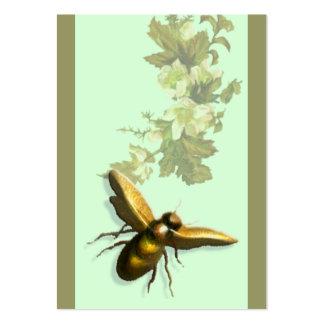 Abeille de miel carte de visite grand format