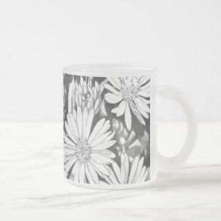 Abeille de miel en verre de bière d'art de fleurs  tasses à café