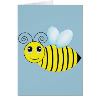 Abeille de ronflement mignonne de miel carte de vœux