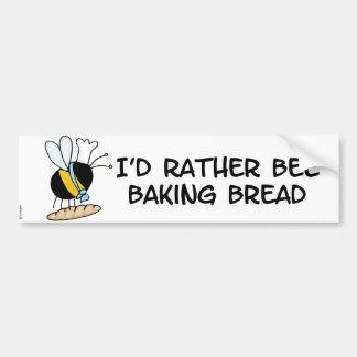 abeille de travailleur - boulanger autocollant pour voiture