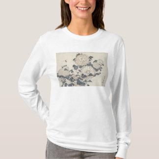 Abeille et chrysanthèmes t-shirt