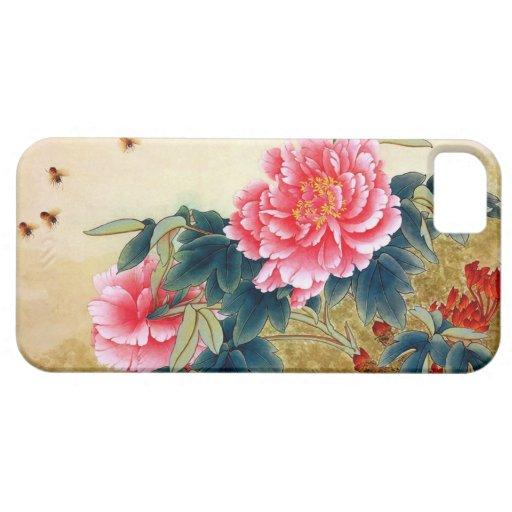 Abeille fraîche de fleur de rose d'aquarelle de cl étui iPhone 5
