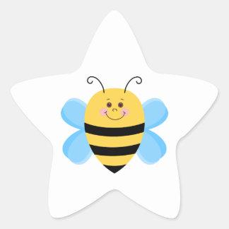 Abeille mignonne de bébé sticker étoile