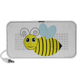 Abeille mignonne de miel haut-parleurs iPod