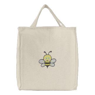abeille mignonne fourre-tout de bébé sacs fourre-tout brodés