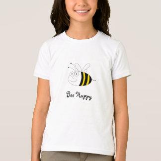 Abeille mignonne heureuse d'abeille t-shirt