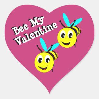Abeille mon autocollant de Valentine
