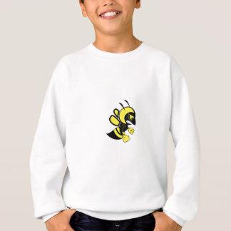 abeille moyenne jaune sweatshirt