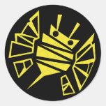 abeille-peigne de persephones sticker rond