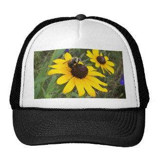 abeille sur la fleur casquettes