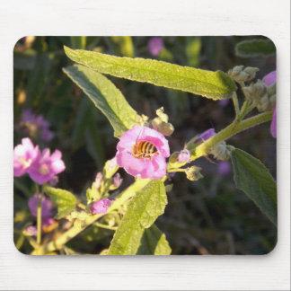 Abeille sur la fleur Mousepad Tapis De Souris