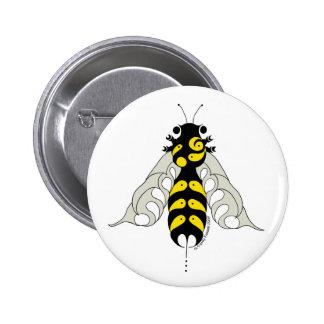 Abeille tribale de miel badge rond 5 cm